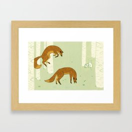 Wrong Focus Foxes Framed Art Print