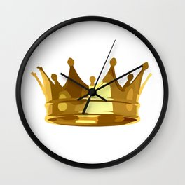 Royal Shining Golden Crown for King or Queen Wall Clock