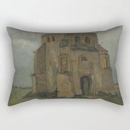 The Old Church Tower at Nuenen Rectangular Pillow