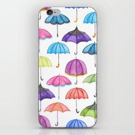 Rainy Day Umbrellas iPhone Skin