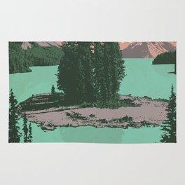 Jasper National Park Poster Rug