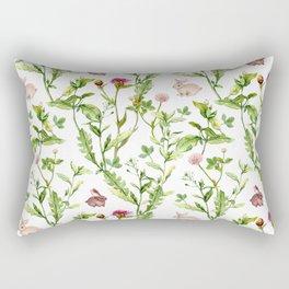Easter Bunny Garden Rectangular Pillow