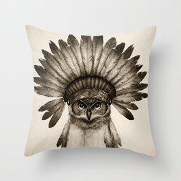Owl Cheif Throw Pillow