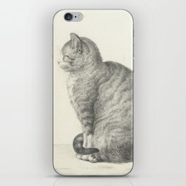 Vintage Cat Illustration, 1815 iPhone Skin