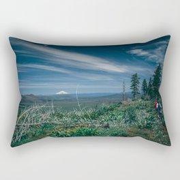 Mt Shasta view Rectangular Pillow