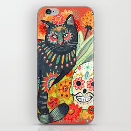 Dia De Los Muertos Cat iPhone Skin