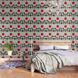 Grunge red sun Wallpaper