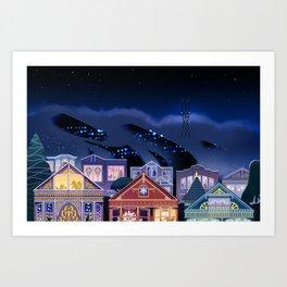 Christmas in San Francisco Art Print