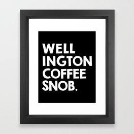 Wellington Coffee Snob (black) Framed Art Print