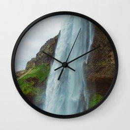 Vintage Seljalandsfoss Wall Clock
