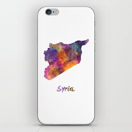 Syria in watercolor iPhone Skin