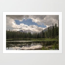 Welcome to the Rockies Art Print