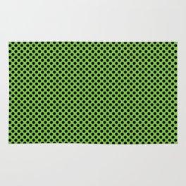 Jasmine Green and Black Polka Dots Rug