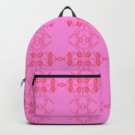Luxury vint. ornaments Pink ethnic Backpack