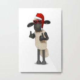 Shaun the sheep xmas Metal Print