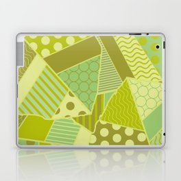 Graphic Leaf Patchwork (Spring Green Bold Colors) Laptop & iPad Skin