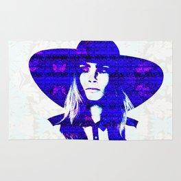 Cara Delevigne: Wide Brimmed Hat Rug