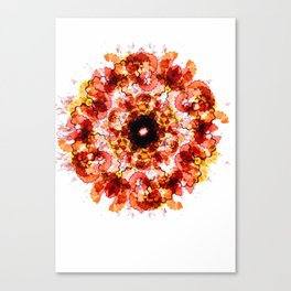 Illustrator's Mandala Canvas Print