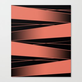Black and red. Canvas Print