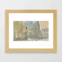 I was waiting Framed Art Print
