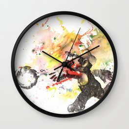 Mario Throwing Fireball Wall Clock