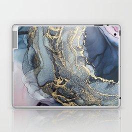 Blush, Payne's Gray and Gold Metallic Abstract Laptop & iPad Skin