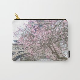 Paris in Springtime with the Eiffel Tower Carry-All Pouch