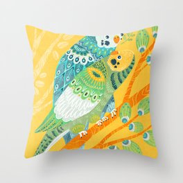 Parakeet Pals Throw Pillow