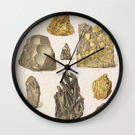 Vintage Gold Minerals Wall Clock