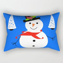 happy snowman Rectangular Pillow