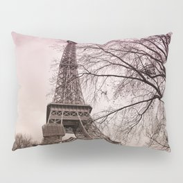 Eiffel Tower Paris in pink Pillow Sham