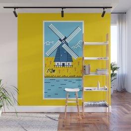 Holland Windmill Wall Mural