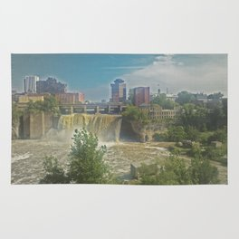 High Falls  on the Genesee River Rug