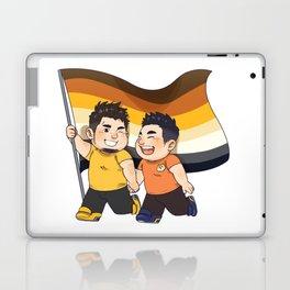Happy cute bear couple Laptop & iPad Skin