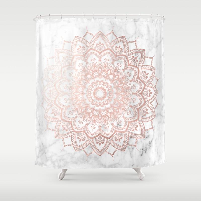 Pleasure Rose Gold Shower Curtain By Mermaidandunicorn Society6