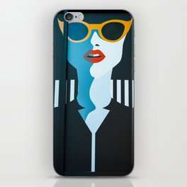 Girl with sunglasses iPhone Skin