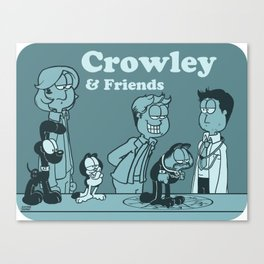 Crowley & Friends - Supernatural Canvas Print