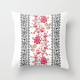 Red flowers . Throw Pillow