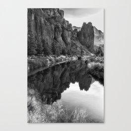 Smith Rock Morning Glow bw Canvas Print