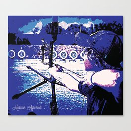 Young Archer and Targets Canvas Print