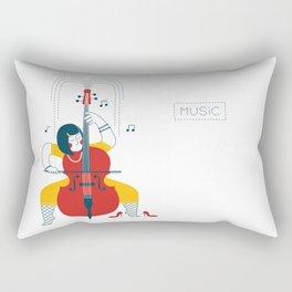 Cellist Rectangular Pillow