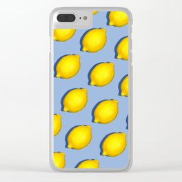 Yellow Lemons Clear iPhone Case
