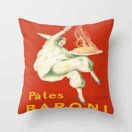 Vintage poster - Pates Baroni Throw Pillow
