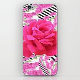MODERN ABSTRACT CERISE PINK ROSE GARDEN  ART iPhone Skin