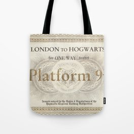 Platform 9 3/4 ticket Tote Bag