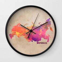 Russia map Wall Clock
