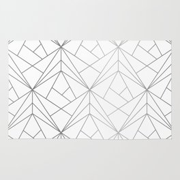 Geometric Silver Pattern Rug