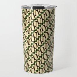 Batik Parang Green Pattern Travel Mug