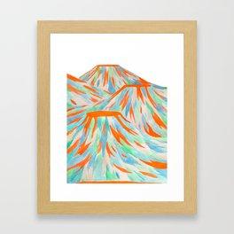Volcanic Landscape Framed Art Print