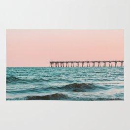 Beach Pier Sunrise Rug